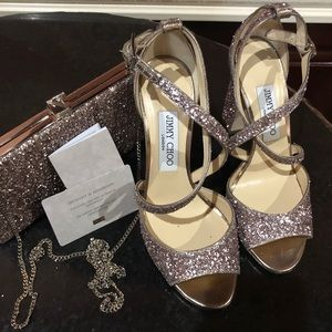 Jimmy Choo Heels With Matching Clutch